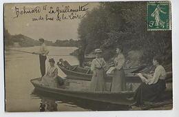 Carte-photo: BEHUARD: La Guillemette - Un Des Bras De La Loire (pêcheurs) - France