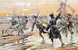 LES ANGLAIS A LA BATAILLE DES FLANDRES DU 4 OCTOBRE AU 12 NOVEMBRE 1914 DESSIN    REF 60754 - Guerre 1914-18