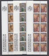 Liechtenstein 1987 Stadtpalais Liechtenstein, Wien 3v Bl Of 10 ** Mnh (44318A) - Liechtenstein