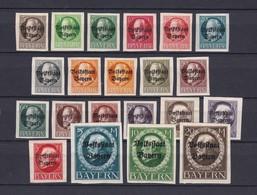 Bayern - 1920 - Michel Nr. 116/135 B - Bayern