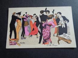 Illustrateur ( 1205 )    Xavier Sager   Le Thé  Danse  Dans  Tango  -  B.G. Paris  595 - Sager, Xavier