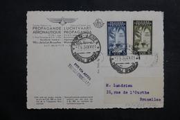 TRIPOLITAINE - Carte Postale Par Vol Tripoli / Bruxelles En 1938, Propagande Aérienne , à Voir - L 40121 - Tripolitaine