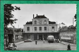 """Ermont (95) Gare D'Ermont-Eaubonne 2scans Autocar Locomotive Pub """"assureur Cabinet J. Durand"""" Postes Recette Auxiliaire - Ermont"""