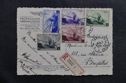BELGIQUE - Carte Postale De Propagande Aérienne En Recommandé De Ixelles Pour Bruxelles En 1938, à Voir - L 40123 - Cartas