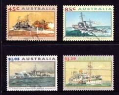 Australia 1993 Naval And Maritime War Vessels Set Of 4 Used - 1990-99 Elizabeth II
