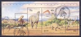 Australia 1993 Dinosaur Era Minisheet Used - - 1990-99 Elizabeth II