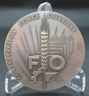0028 - MEDAILLE CONFEDERATION FORCE OUVRIERE CGT 25è Anniv 1972 Argent 950/°°° - Autres