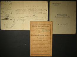 3x Soviet-Polish Holocaust Survivor Post-WWII Documents, 1946-47 - WW2
