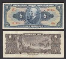 Brasilien - Brazil 5 Cruzaros Banknote (1943) Pick 134a VF (3)  (24810 - Banknoten