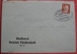 Bahnpost Graz - Friedberg - Brief Der Molkerei Fürstenfeld (2. Gewichtsstufe) Nach Graz 1942 - Machine Stamps (ATM)