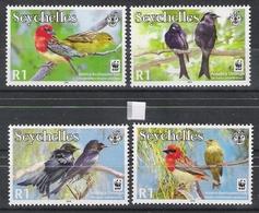 WWF Seychelles 2008 Drongos + Fody MNH CV £3.00 - Songbirds & Tree Dwellers