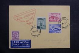 BELGIQUE - Carte Postale De Bruxelles Pour Léopolville Par 1er Vol Alger /Brazzaville En 1938 - L 40127 - Cartas