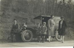 Automobile Avec Famille -photo Ancienne Originale - Cars