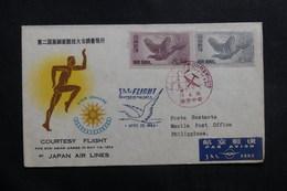 JAPON - Enveloppe 1er Vol Tokyo / Manille En 1954 - L 40129 - Storia Postale