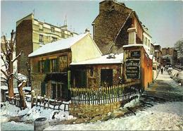 CPSM - Format 10,5 X 15 Cm - édit. YVON - E.K.B. 8067 - PARIS - Le Vieux Montmartre - Le Lapin Agile Sous La Neige - Arrondissement: 18
