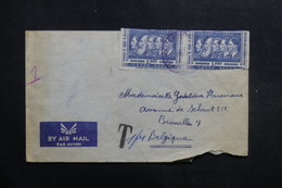 CONGO BELGE - Enveloppe Pour Bruxelles, Cachet De Taxe , à Voir - L 40131 - 1947-60: Covers