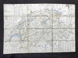 Carta Geografica Della Svizzera - Carte De La Suisse - Ed. 1870 Hindemann - Altre Collezioni