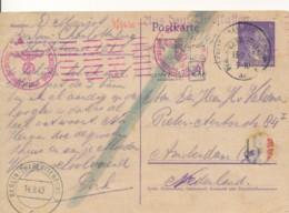 Berlin Charlottenburg 13.9.43 Naar Amsterdam - Chimsche Censuur Charlottenburg 7 - 14.9.43 - Postwaardestukken