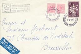 Lettre Privée Belgian Antarctic Expedition 1959 - Base Belge 10-2-1960 - Bruxelles 23-2-1960 - Bases Antarctiques