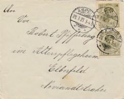 Luxembourg - Lettre  Aspelt 28.3.23 Vers Elberfeld - 1921-27 Charlotte De Face