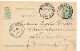 Luxembourg - Entier  Dommeldange 27 8 98 - Pli - Entiers Postaux
