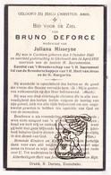 DP Bruno DeForce ° Kachtem Izegem 1845 † Geluveld Zonnebeke 1931 X Juliana Misseyne Messeyne - Images Religieuses