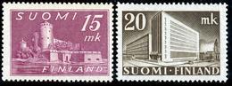 FINLAND 1945 Definitive 15 Mk + 20 Mk MI 317-18 Set Of 2v**MNH - Nuovi
