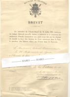 Armée Belge - Brevet D'attribution De La  Médaille De La Victoire 1919 - 20 E Rgt De Ligne (b259) - 1914-18