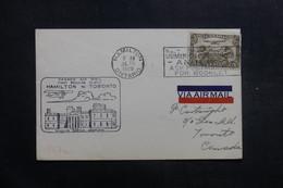 CANADA - Enveloppe 1er Vol Hamilton / Toronto En 1929, Affranchissement Et Cachets Plaisants - L 40137 - Briefe U. Dokumente