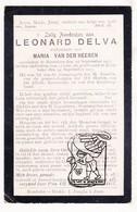DP Leonard Delva ° 1844 † Roeselare 1917 X Maria Vander Heeren / Begr. Rumbeke - Images Religieuses