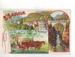 38 RF CPA  SAINT SAUVEUR  AMOUROUX FRËRES  L'HIRONDELLE - Publicité