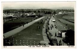 Ref 1327 - Real Photo Postcard - The Sea Front Paignton - Devon - Paignton