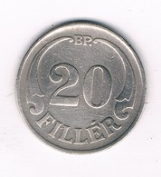 20 FILLER 1926  HONGARIJE /6277/ - Hongrie