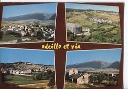 Font-Romeu-Odeillo-Via - Lumières Et Couleurs De La Cerdagne - 4 Photo's Sur Carte - Ed. P Goudin - Otros Municipios
