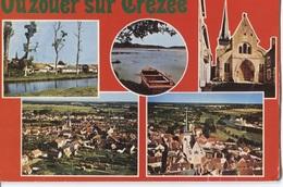 Ouzouer-sur-Trézée - Ed CIM - 5 Photo's Sur Carte - Canal De Briare - Etangs - Eglise - Panorama - France