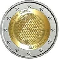 Slovenië  2018    2 Euro Commemo Wereld Bijendag  Jour Mondiale D'abeille      UNC Uit De Rol  UNC Du Rouleaux !! - Slovenië