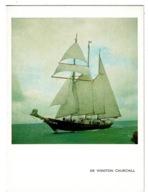 Ref 1327 - Unused Royal Navy Christmas Card For Yacht - Sir Winston Churchill - Vieux Papiers