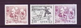 Europa CEPT 1989 - Svezia, Giochi,  3v MNH** - Europa-CEPT