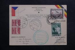BELGIQUE - Carte Du Meeting D' Aviation De Bruxelles Pour La Tchécoslovaquie En 1937  - L 40139 - Cartas