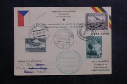 BELGIQUE - Carte Du Meeting D' Aviation De Bruxelles Pour La Tchécoslovaquie En 1937  - L 40141 - Cartas