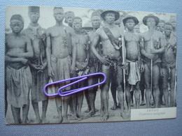 CONGO BELGE : Guerriers Indigènes En 1907 - Congo Belge - Autres
