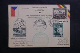 BELGIQUE - Carte Du Meeting D' Aviation De Bruxelles Pour La Tchécoslovaquie En 1937  - L 40142 - Cartas