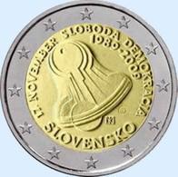Slovakije 2009   2 Euro Commemo     Demokratie    UNC Uit De Rol  UNC Du Rouleaux  !! - Slovaquie