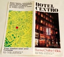 Ancienne Brochure Touristique - Hotel Centro, Milano, Vía Broletto - Folletos Turísticos