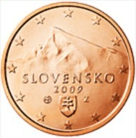 Slovakije 2009     5 Cent    UNC Uit De Rol  UNC Du Rouleaux  !! - Slovaquie