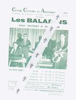 Programme Uccle  1966  Les Baladins - Programmes