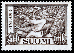 FINLAND 1952 Definitive 40 Mk Brown MI 406**MNH - Nuovi