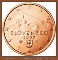Slovakije 2009     1 Cent    UNC Uit De Rol  UNC Du Rouleaux  !! - Slovaquie