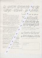 Programme Uccle  1966 Théatre - Programmes