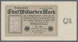 P115 Ro112c DEU-133. 5 Milliard Mark 10.09.1923 AUNC- - [ 3] 1918-1933 : Repubblica  Di Weimar